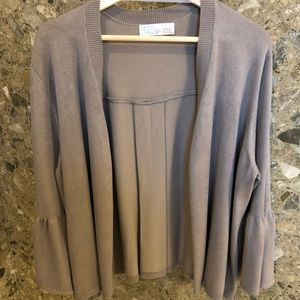 Bell Sleeve Taupe Sweater
